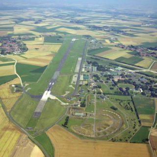 vue aérienne base de cambrai